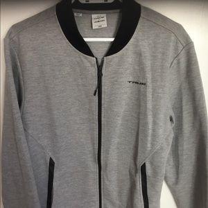 True /Jack and  Jones  zip up jacket size L gray